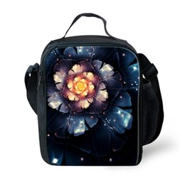 Wholesale Girls Lunch Totes - Forudesigns Vintage Style Flower Lancheira Termica Bags for Kids Girls Lunch Bag Outdoor Portable Picnic Bolsa Therma Women Tote