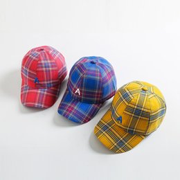 a6bd49690c9 Letter A Plaid Baseball Cap New Fashion Men Women Casual Outdoor Dad Hats  Justin Bieber Hip Hop Caps Petten Bone Snapback Hats