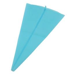 Wholesale Blue Desserts - ALIM M code Sky blue Silicone Reusable Cake Icing Piping Cream Bag Decorating 33.5cm*20cm.