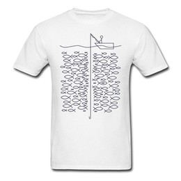 Order T Shirts Kurze Baumwolle Mit Rundhalsausschnitt Herren Fishinger Lustige Fischer Auf Boot Herrenhemden von Fabrikanten