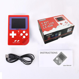 Wholesale Nes Lcd - CoolBaby RS-6 Portable Retro Mini Handheld Game Console 8 bit Color LCD Game Player For FC Game free DHL FREE