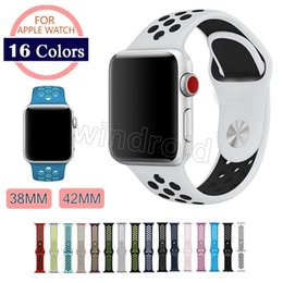 Wholesale watch 42mm - New Arrived Sport Silicone More Hole Straps Bands For Apple Watch Series 1 2 Strap Band 38 42mm Bracelet VS Fitbit Alta Blaze Charge Flex