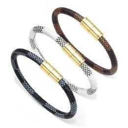 261273b70bab pulsera de mano pareja Rebajas 2018 la última moda pareja pulseras de cuero  brazalete con oro
