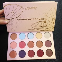 Wholesale Golden Shadow - Colourpop Eye Shadow Palette Yes Please Golden state of mind Eyeshadow Palette Colourpop Cosmetics Eye Shadow Pressed Powder Shadow Makeup