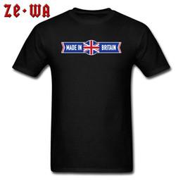 Roupas grã-bretanha on-line-Impresso Feito Na Grã-Bretanha REINO UNIDO Homens Bandeira Tshirts 2018 de Alta Qualidade Gola Redonda 100% Algodão Slim Fit Roupas Outono Tops Camisas