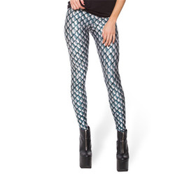 5e5d8214572ca Black Milk New Silver Dragon Scales Print Leggings for Women Skinny Long  leggins women pant