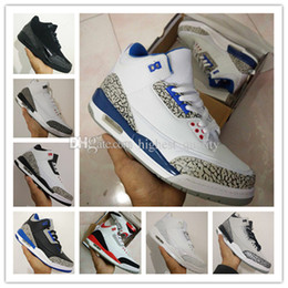 Wholesale good bond - New shoes 3s white black cement infrared 23 wolf grey mens basketball shoes sneakers for men sport designer Good Quality Version Size 8-13