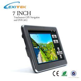 Wholesale av navigation - Free shipping New 7 inch Car GPS Navigation with DVR AV Input support 16GB TF card provide Free map 800*480