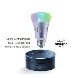 Wholesale Umbrella Led Light - E27 wifi bulb 7W for alexa echo and google home intelligent led lights RGB color App Control bluetooth smart lamp
