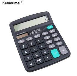 calculadora de batería solar Rebajas Kebidumei Office Solar Calculator Herramienta comercial Battery o Solar 2 en 1 Powered 12 Digit Calculadora electrónica con botón grande