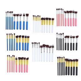 Make-up pinsel set real online-Großhandel Real 2018 Heißer Verkauf 8 Farben 10 teile / satz 18 cm Make-Up Foundation Powder Pinsel Professionelle Kosmetische Gesichts Make-Up Werkzeuge Pinsel Sets