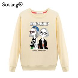 d20effd72218 Sosaeg Autumn Womens Sweatshirts Hoodies O-neck Fashion Casual Cute Cartoon  Print Two girls clothes Cotton ladies hoody