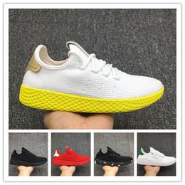 2017 Top Quality Pharrell Williams x Stan Smith Tênis HU Primeknit homens mulheres Respirável Leve Caminhadas Sapatos de Caminhada Eur 40-45 de