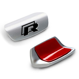 Adesivos passat on-line-Novo Estilo 3D Car Styling Volante R Rline Emblema Reequipamento Adesivo para Volkswagen VW B8 PASSAT GOLF 7 Jetta MK7 CC Tiguan Polo