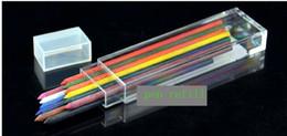 lápis de cor Desconto Atacado 10 conjuntos de 3.2mm Recarga de Lápis Mecânica 12 Recargas de Chumbo Colorido, lápis de cor chumbo + frete grátis