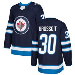 feebe2b30 heritage classic jerseys 2019 - Winnipeg Jets 28 Jack Roslovic 30 Laurent  Brossoit 2018 New Double