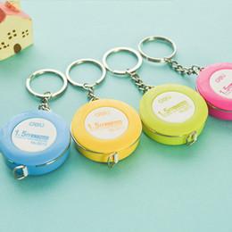 Wholesale Measuring Tape Key Chain - 1pcs Mainpoint Hot Sale Mini Tape Measure With Key Chain Plastic Portable 1.5m Retractable Ruler Centimeter