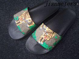 Trek green on-line-Tomada de fábrica mens moda verde bengala tigre trek sandálias de slides com sola de borracha grossa meninos ocasionais praia chinelos tamanho euro 38-46