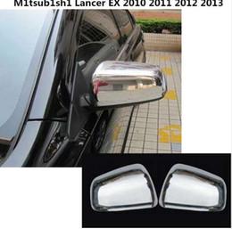 mitsubishi lancer ex Sconti Car styling ABS cromato posteriore vista posteriore Rearview Side Mirror Strip stick rivestimento del pannello lampada per Mitsubishi Lancer EX 2010- 2013