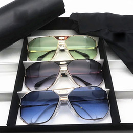 Wholesale Options Brand - 2017 Oversized Metal Frame Sunglasses US Fashion Brand 905 Three Colors Options Designer Sunglasses For Men and Women With High Quality