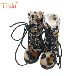Wholesale Blythe Dolls - Tilda 3.2cm Doll Boots for Blythe Doll Toy,1 8 Mini Casual Leapard Leather Dolls Shoes for BJD,Casual Shoes Accessories Toy