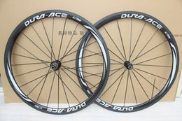 Wholesale Bicycle Sales - factory sale dura ace c35 Carbon Wheelset 38mm clincher Clincher glssy finish carbon bicycle wheels powerway R36 hubs