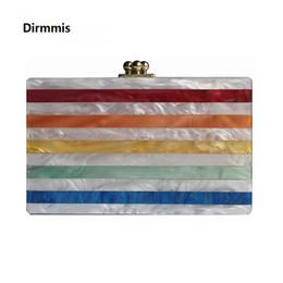 Wholesale Bags Handbags Fashion Colorful Style - 2018 Women messenger bag brand fashion eveningbag new wallet colorful stripe luxury handbag women casual shoulder vintage clutch
