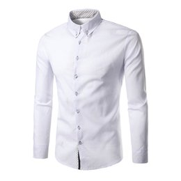 2019 formale langarmshirtsentwurf 2018 neue Mode Marke Camisa Masculina Langarm-Shirt Männer koreanische dünne Design formale beiläufige männliche Kleid Shirt Größe M-2XL rabatt formale langarmshirtsentwurf