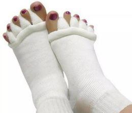 Wholesale feet sleeping - Yoga Massage Socks Health Five Toe Socks Women Sports Fitness Sock Gym Dance Hosiery Floor Sleep Socks Foot Non Slip Anklet 300Pairs