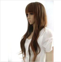Parrucca di capelli cosplay parrucca donna parrucca lunga sexy marrone ondulato da