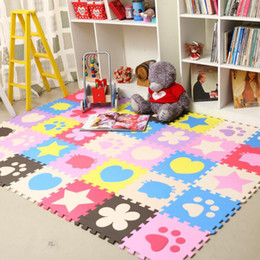 Wholesale Games Flowers - 12pcs set 30*30*1CM EVA Foam Baby Mat Game Mat Puzzle Living Room Baby Room Interlock Floor Carpet Play Crawling Pad