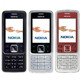 Wholesale Gsm Silver - Refurbished Original Nokia 6300 Bar 2.0 inch Screen 2G GSM Mobile Phone 2MP Camera Multi Language Bluetooth FM MP3 Cheap Phone Post 1pcs