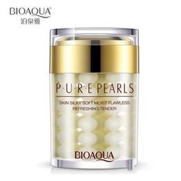 esencia de perla Rebajas BIOAQUA de alta qulity Pure Pearl Cream Hyaluronic Acid Deep Moisturizing Essence Cream Cuidado de la cara 60 g Libre de DHL