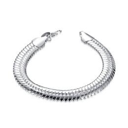 Cadena de serpiente plana de 10M - Pulsera de plata esterlina macho SPB231; Venta caliente hombres y mujeres 925 pulsera de plata enlace, cadena desde fabricantes