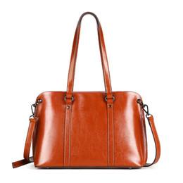 Newest Genuine Leather Women Shoulder Bags Brand Designer Handbags Cowhide  Female Tote Bags Large Capacity Travel Shopping Bag c09da8105a5c6