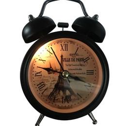 Wholesale Alarm Number - Retro Alarm Clock Round Number showing Bed Desk Table Travel Quartz Plastic Alloy Clock Cute Portable Home Decor 2018 Small