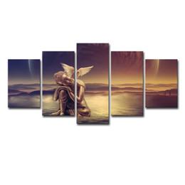 2019 голубь Печать холст Pictures Home Decor Гостиная 5 шт Золотой Будда сб в воде Картина мира Dove Плакат Wall Art дешево голубь
