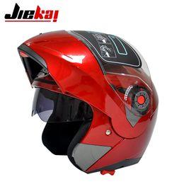Wholesale Helmets Jiekai - Red color Helmets JIEKAI 105 undrape face helmet Full Face helmet Motorcycle motorbike motocross MOTO Racing Helmets