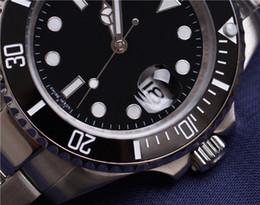 Wholesale Bezel Blue Black Ceramic Watches - Top Luxury Brand 116610 Ceramic Bezel Mens Mechanical Stainless Steel Automatic Movement Black Watch Sports Self-wind Watches Wristwatch