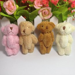 Wholesale Wholesale Teddy Bear Decorations - Plush Toys Simulation Bear Mini Joint Poodle Doll Long Hair Multicolor 6cm Toy For Hat Necklace Ornaments Diy Decoration 1 45nw Z