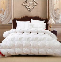 Wholesale Gray Satin Comforter - Goose Down Comforter White Pink Satin Winter comforters Quit Doona Duvet King size Queen Full Twin Warm solid 200x230 220x240cm