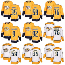2018 New Nashville Predators jersey 9 Filip Forsberg 12 Mike Fisher 35  Pekka Rinne 59 Roman Josi 92 Ryan Johansen 76 PK Subban hockey Jersey 1c7c2dafe