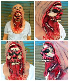 Wholesale Haunted House Masks - Nausea rotten face zombie horror rotting zombie mask Halloween haunted house props