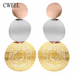 Wholesale long cheap earrings - CWEEL Drop Earrings Fashion Boho Wedding Bohemian Earrings Female For Women Party Long Brincos Charms Cheap Male Earring