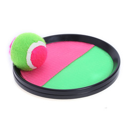 Wholesale Throwing Flying Toys - New Creative Sticky Ball Toys Sticky Target Racket Indoor and Outdoor Fun Sports Parent-Child Interactive Throw and Catch Ball Games