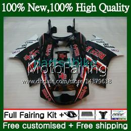 Kits de carenado rizla online-Cuerpo para SUZUKI RGV250 VJ23 97-98 RGV 250 97 98 Carrocería RIZLA rojo 39MF10 RGV-250 VJ 23 Carenado RGV250 1997 1998 blk Kit de carrocería Fairing