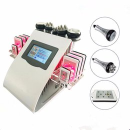 Wholesale Tripolar Portable Machine - Hot Sale New Portable 6 In 1 Cavi-lipo Ultrasound Cavitation Machine 40K Cavitation RF Multipolar Tripolar Vacuum Laser Slimming Machine