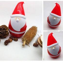 Mini Tumbler Papai Noel Bluetooth Speaker Sem Fio Inteligente Bluetooth Bass Speaker Música Orador de Áudio para o Natal de