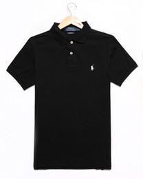 Polos de color sólido online-Diseñador de la marca Polo Men Women Camisas de manga corta London New York Chicago Polo Shirt Mens Polo Shirt Color sólido de alta calidad