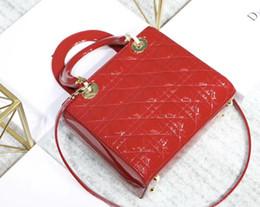 Sacs à main en cuir peint en Ligne-Classique chaude mode femmes sac designer en cuir véritable couche de peinture lady sac à main avec longue sangle livraison gratuite